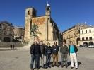 Grupo de investigadores del CIEMAT en la plaza de Trujillo - sede de CETA-CIEMAT