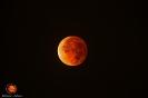 """Luna """"roja"""" en el máximo de la totalidad del eclipse del 15 de abril 2014"""